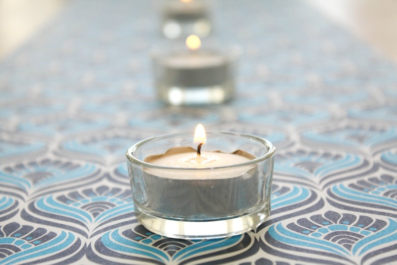 diy table runner, paper table runner
