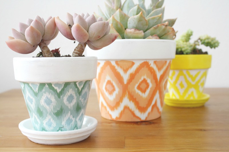 painting clay pots paint pot paint clay pots paint a pot painting & DIY Hand Painted Ikat Pots - Bohemian Kate