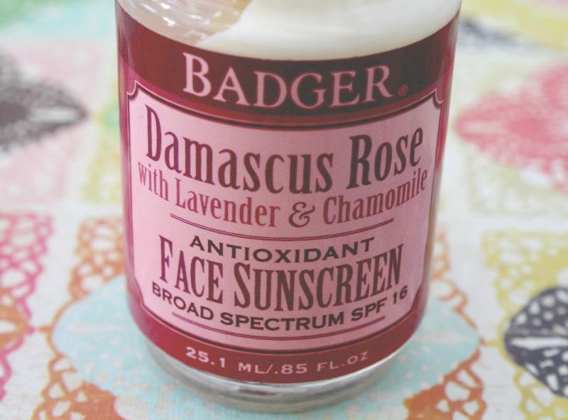 natural sunscreen, non toxic sunscreen, facial sunscreen, daily sunscreen, badger sunscreen